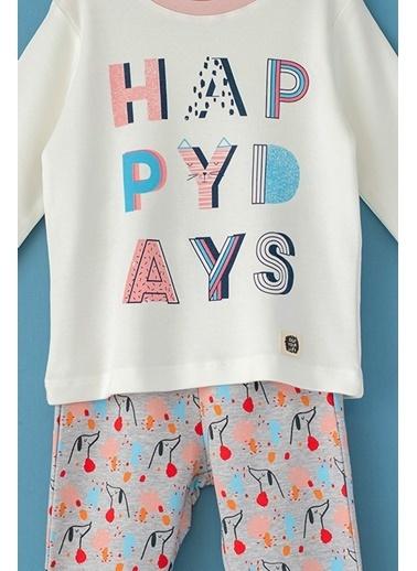 Cigit Happy Days Pijama Takımı Ekru